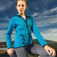 Women's melange knit fleece jacket  Thumbnail